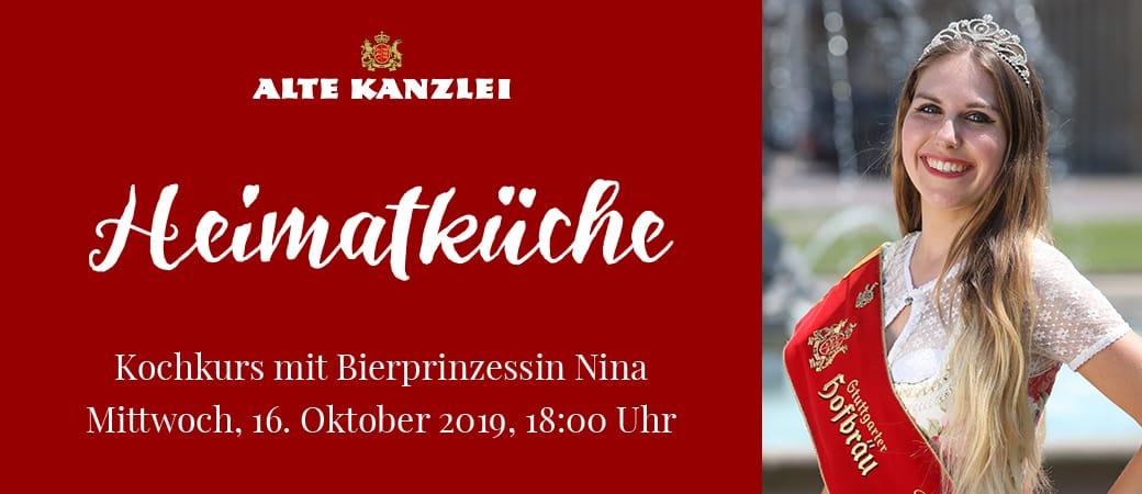 Kochkurs »Heimatküche« mit Bierprinzessin Nina